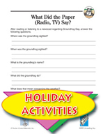 Groundhog Day Activities - If a Groundhog Cold talk