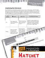 Hatchet Leveled Comprehension Questions (Great Works Series)