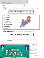 High Frequency Word Phrases Level 1 - Word Order