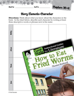 How to Eat Fried Worms Studying the Story Elements (Great