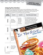 If You Give . . . Series Guide Leveled Comprehension Quest