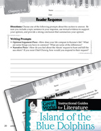 Island of the Blue Dolphins Reader Response Writing Prompt