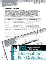 Island of the Blue Dolphins Vocabulary Activities (Great W