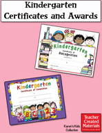 Kindergarten Certificates and Awards by Karen's Kids