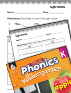 Kindergarten Foundational Phonics Skills: Sight Words
