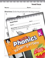 Kindergarten Foundational Phonics Skills: Vowel Focus