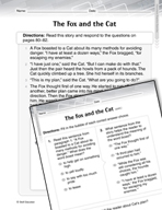Language Arts Test Preparation Level 2 - The Fox and the C