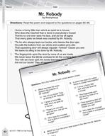 Language Arts Test Preparation Level 4 - Mr. Nobody (Pract
