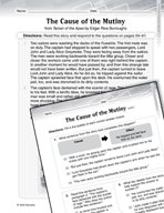 Language Arts Test Preparation Level 4 - The Cause of the