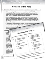 Language Arts Test Preparation Level 5 - Monsters of the D