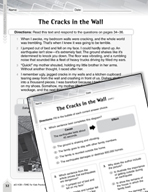 Language Arts Test Preparation Level 5 - The Cracks in the