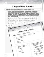 Language Arts Test Preparation Level 6 - A Royal Return to