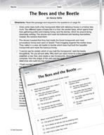 Language Arts Test Preparation Level 6 - The Bees (Practic
