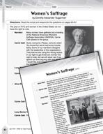 Language Arts Test Preparation Level 6 - Women's Suffrage