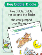 """Learning Center Activities for """"Hey Diddle, Diddle"""""""