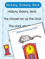 """Learning Center Activities for """"Hickory, Dickory, Dock"""""""