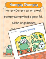 """Learning Center Activities for """"Humpty Dumpty"""""""