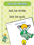 "Learning Center Activities for ""Jack Be Nimble"""