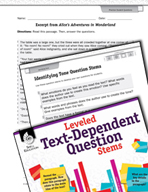 Leveled Text-Dependent Question Stems: Identifying Tone