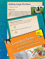 Leveled Texts: Adding Large Numbers