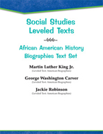 Leveled Texts - African American History Biographies Text Set