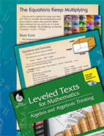 Leveled Texts: Multiplication Equations-The Equations Keep