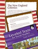 Leveled Texts: New England Colonies