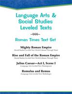 Leveled Texts - Roman Times Text Set