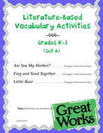 Literature-Based Vocabulary Activities for Grades K-1 (Set A)