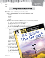 M.C. Higgins, the Great Comprehension Assessment (Great Wo