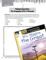 M.C. Higgins, the Great Making Cross-Curricular Connection