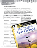 M.C. Higgins, the Great Vocabulary Activities (Great Works