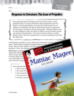 Maniac Magee Post-Reading Activities (Great Works Series)