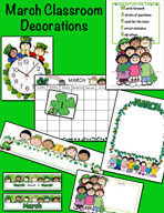 March Classroom Decorations by Karen's Kids