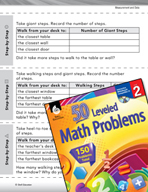 Measurement and Data Leveled Problems: How Many Steps Will