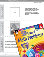 Measurement and Data Leveled Problems: Length, Area, and P