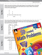 Measurement and Data Leveled Problems: Line Plots