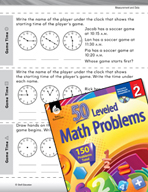 Measurement and Data Leveled Problems: Matching Analog and