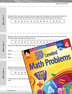 Measurement and Data Leveled Problems: Mean, Median, Mode