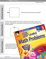 Measurement and Data Leveled Problems: Perimeter of Square