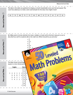 Measurement and Data Leveled Problems: Stem-and-Leaf Plots