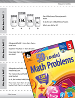 Measurement and Data Leveled Problems: Volume Word Problems