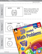 Measurement and Data Leveled Problems: Write a Story with