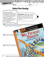 My Father's Dragon Close Reading and Text-Dependent Questi