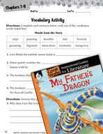 My Father's Dragon Vocabulary Activities (Great Works Series)