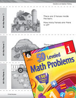 Number Sense Leveled Problem: Add and Subtract At the Farm
