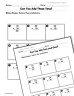 Number and Operations in Base Ten: Adding Tens Practice