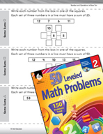 Number and Operations in Base Ten Leveled Problems: Creati
