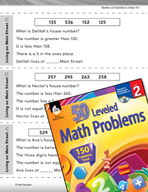 Number and Operations in Base Ten Leveled Problems: Write
