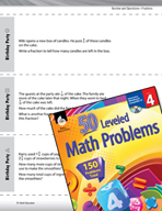 Number and Operations with Fractions Leveled Problems: Add